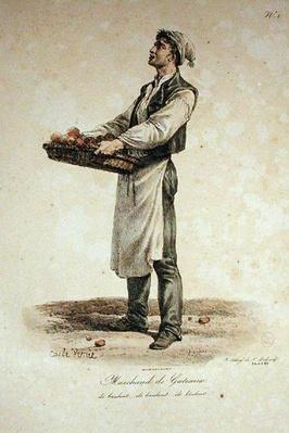 The Cake Seller, number 1 from 'The Cries of Paris' series, engraved by Francois Seraphin Delpech