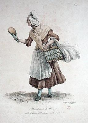 The Pastry Seller, number 4 from 'The Cries of Paris' series, engraved by Francois Seraphin Delpech
