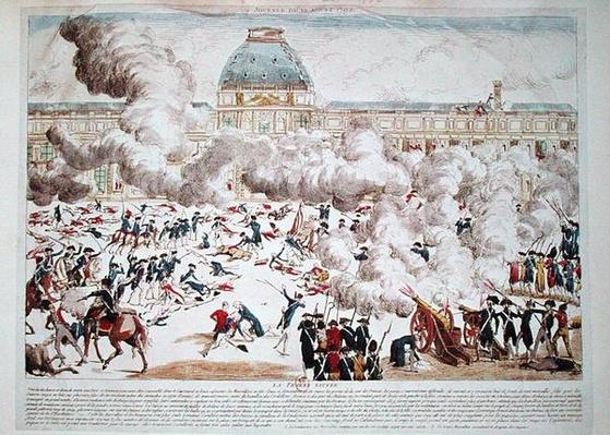 Attack on the Tuileries, 10th August 1792
