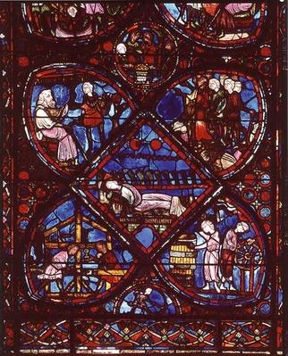 Window depicting the Life of Joseph, from the apse