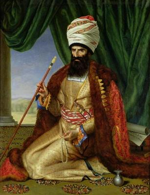 Portrait of Asker-Khan, Ambassador of Persia, in Paris in 1808, 1809