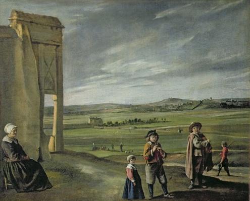 Landscape with Peasants, c.1640