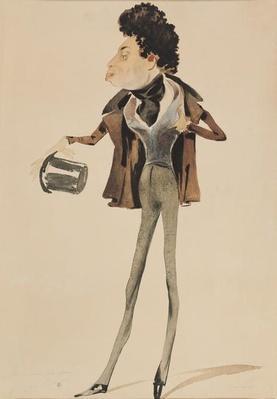 Caricature of Alexander Dumas Pere
