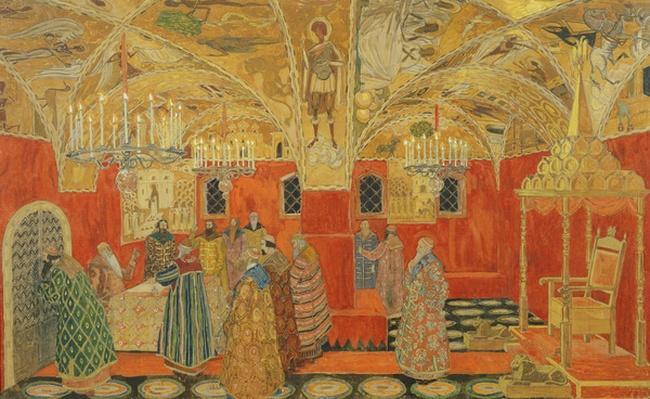 In the Kremlin, scene from the opera 'Boris Godunov' by M. Mussorgsky