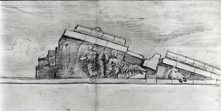 Study of the frieze from the west pediment of the Parthenon