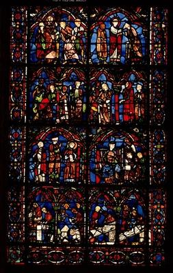 Window depicting scenes from the Life of St. Cheron