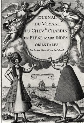 Flyleaf of 'Journal des Voyages du Chevalier Chardin', 1686