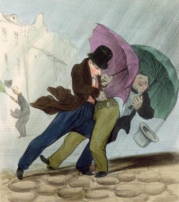 The Umbrella Trip, from 'Flibustiers Parisiens'