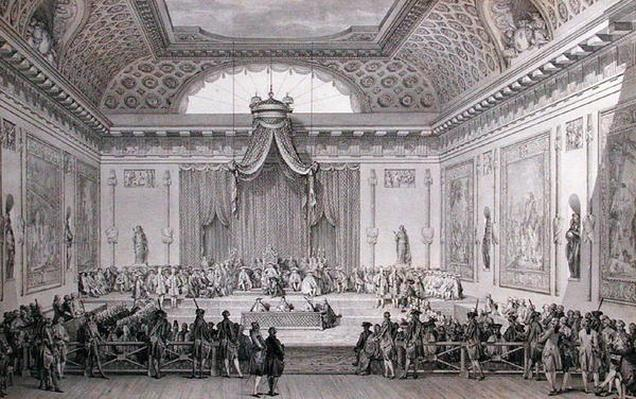 Assemblee des Notables Presided over by Louis XVI