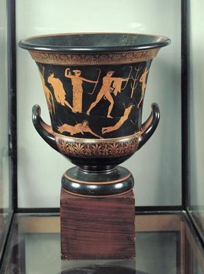Attic red-figure calyx-krater depicting the death of the Niobids, c.460-50 BC