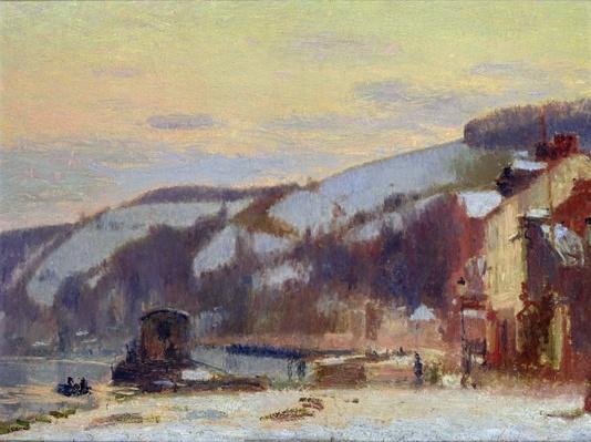 Hillside at Croisset under snow