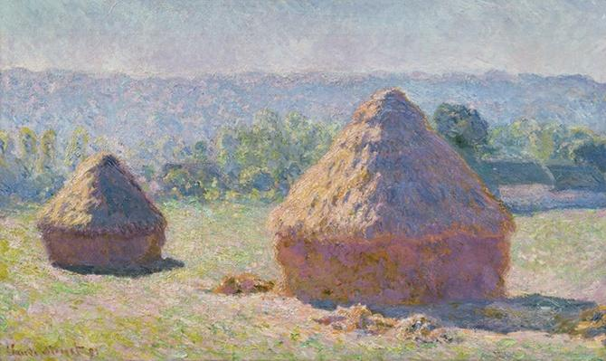 Grainstacks at the end of the Summer, Morning effect, 1891