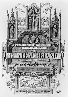 Titlepage to 'Le Genie du Christianisme' by Francois Rene