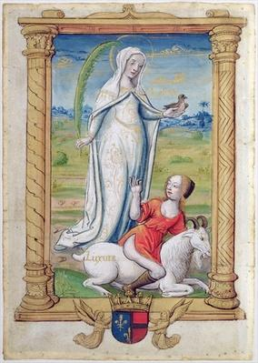 CL 22718 F Chasity Against Lust, from 'Rondeaux des Vertus' created for Louise de Savoie