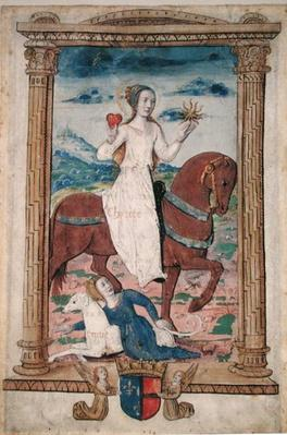 CL 22718 C Charity Against Envy, from 'Rondeaux des Vertus', created for Louis de Savoie