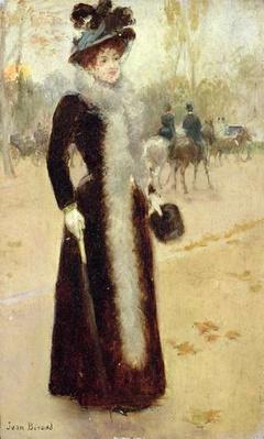A Parisian Woman in the Bois de Boulogne, c.1899