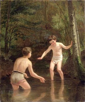 Bathing Boys, 1873 by Frere, Pierre Edouard (1819-86)
