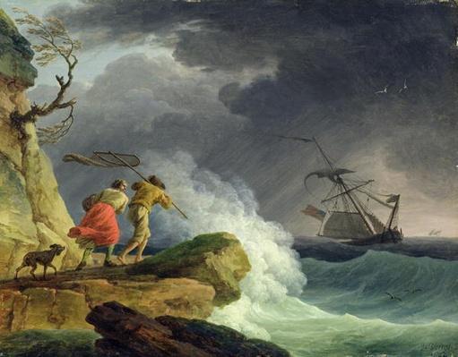 Coastal Scene in a Storm, 1782