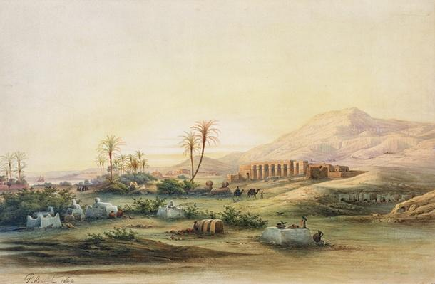 Valley of the Nile with the Ruins of the Temple of Seti I, 1844
