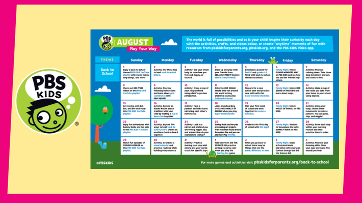Play Your Way! Calendar | Summer of Possibilities