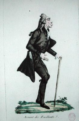 'Je Viens des Feuillants', caricature of the French Revolution, c.1791-92