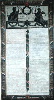 Table of the Constitutional Act of 1793