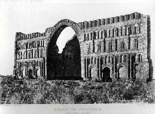The Palace of Ctesiphon, from 'L'Art Antique de la Perse' by Marcel Dieulafoy, published 1884-85