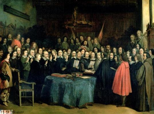 The Swearing of the Oath of Ratification of the Treaty of Munster, 15th May 1648, c.1837