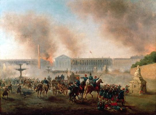 Battle in the Place de la Concorde, 1871