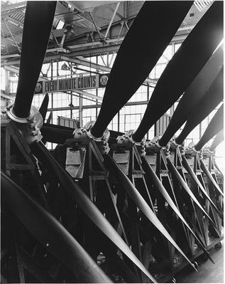 Assembled Plane Propellers on Display | Ken Burns: The War