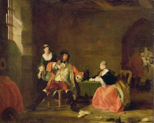 Captain Macheath Upbraided by Polly and Lucy in the 'Beggar's Opera', 1826