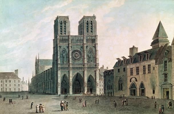 The Square in Front of Notre-Dame at the Time of the Consulat, 1799-1804