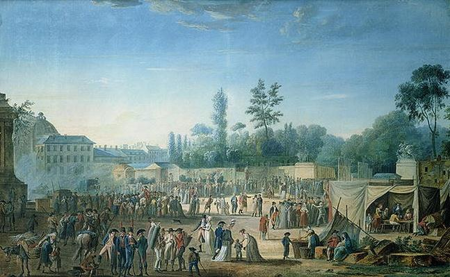 View of the Tuileries from the Place de la Revolution, 1799