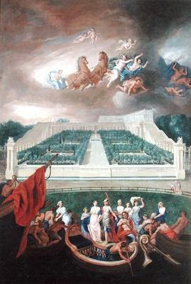 View of the Orangerie and the Chateau de Versailles with the Abduction of Helen, 1688