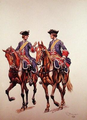 Deputy Sergeant and Archer of the Mounted Police Force of l'Ile de France, c.1750