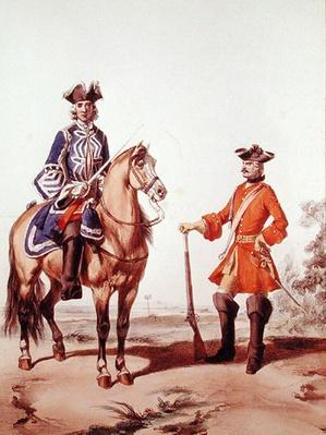 Provost Marshal of the Constabulary and a Member of the Military Police in 1724, engraved by D. Noirmont