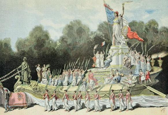 Chariot of the Triumph of the Republic at the National Festival, 22nd September 1892, from 'Le Petit Journal', 24th September 1892