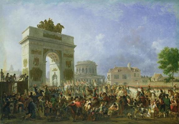 Entry of the Imperial Guard into Paris at the Barriere de Pantin, 25th November 1807, 1810