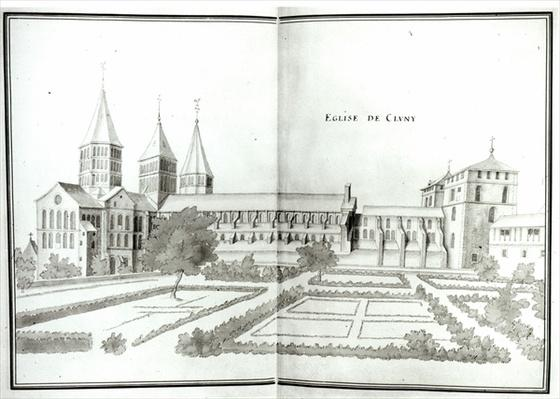 Cluny Abbey, from 'Grand Atlas, t.2'