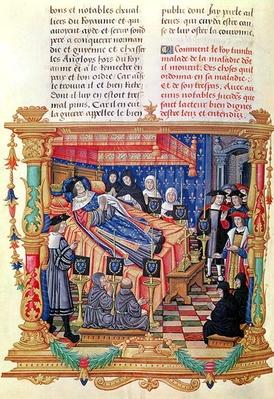 Ms 18 fol.208v The Death of Louis XI