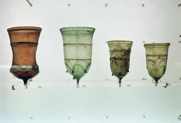 Selection of Frankish glasses, 4th-5th century