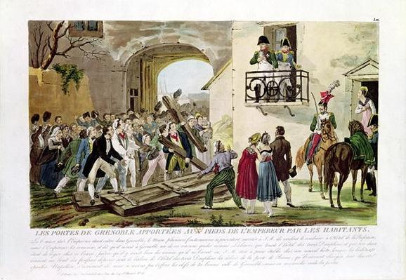 The Inhabitants Depositing the Gates of Grenoble at the Feet of the Emperor, 6th March 1815