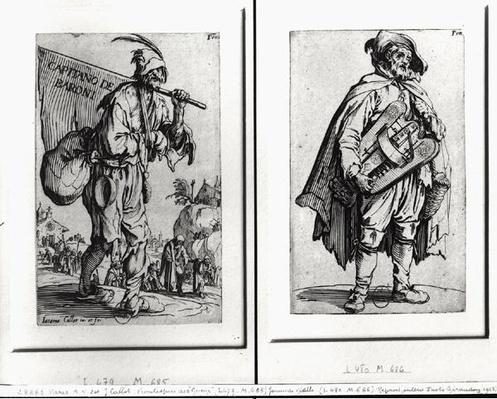 A Beggar and a Hurdy-Gurdy Player