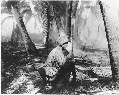 A GI Crouches in the Gilbert Islands | Ken Burns: The War