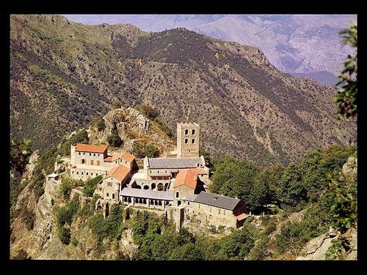 View of the Abbey of St. Martin du Canigou
