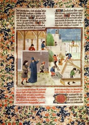 Ms 5064 fol.2v Construction of a House, from 'Livre des Prouffitz Champestres' by Pietro de Crescenzi