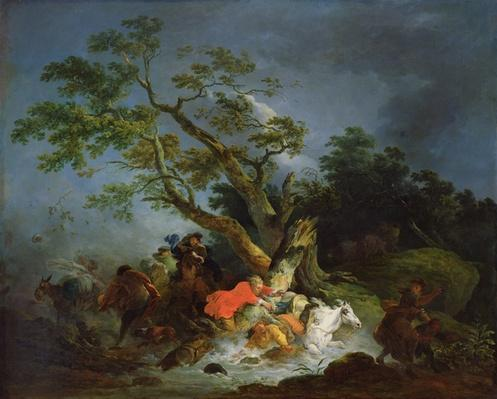 Travellers Caught in a Storm, c.1770