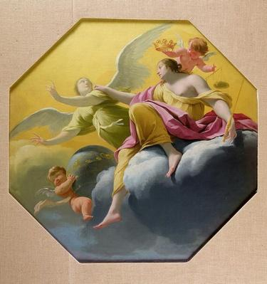 Justice, from a series of the Four Cardinal Virtues on the ceiling of the Queen's bedroom at Saint-Germain-en-Laye, c.1637-38