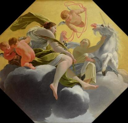 Temperance, from a series of the Four Cardinal Virtues on the ceiling of the Queen's bedroom at Saint-Germain-en-Laye, c.1637-38
