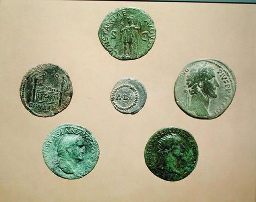 Six coins, from Alesia